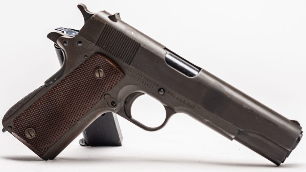 Some 1.9 million of these handguns were produced during the war by not only Colt but also Ithaca, Remington Rand, Union Switch & Signal and Singer at an average cost of $15. They were only replaced by the M9, a modified Beretta 92, in 1986. (Photo: Richard Taylor/Guns.com)