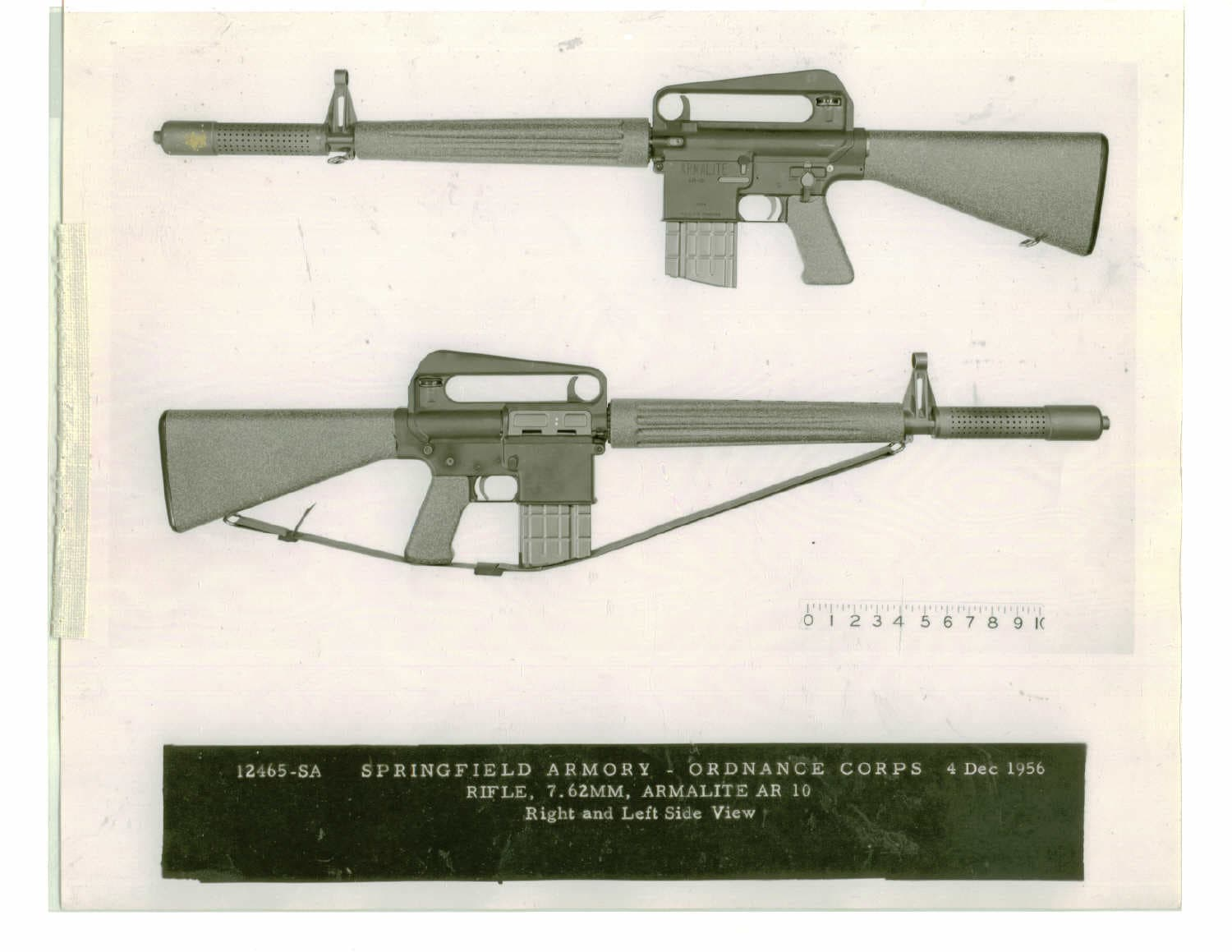 Rifle, 7.62mm Armalite AR-10 1956 SPAR 12465-SA.A.1