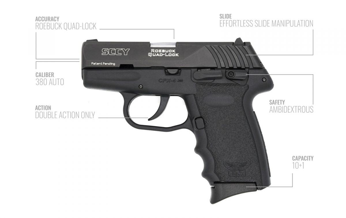 SCCY new CPX-4 pistol breakdown