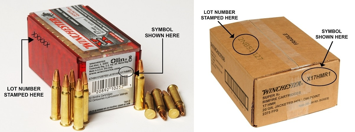Winchester Recalls Some Super-X .17 HMR Ammo markings