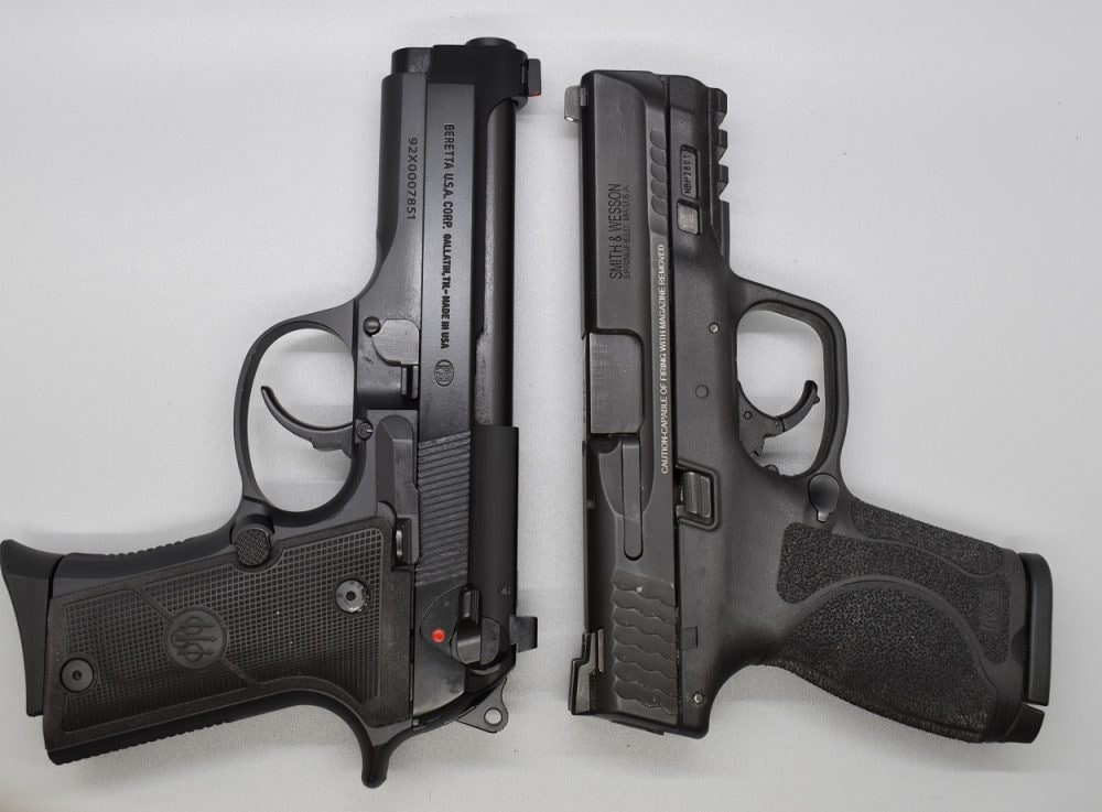When stacked against the S&W M&P M2.0 Compact, the Beretta runs only very narrowly larger. However, it should be noted that loaded weight of the two, even with the 15+1 capacity Smith's polymer frame, is only one ounce off (36-ounces) vs. the 13+1 capacity 92X Compact (37-ounces).
