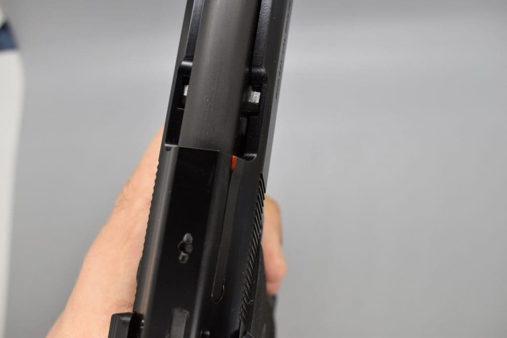 Note the loaded chamber indicator on the ejector is both visible and somewhat tactile.