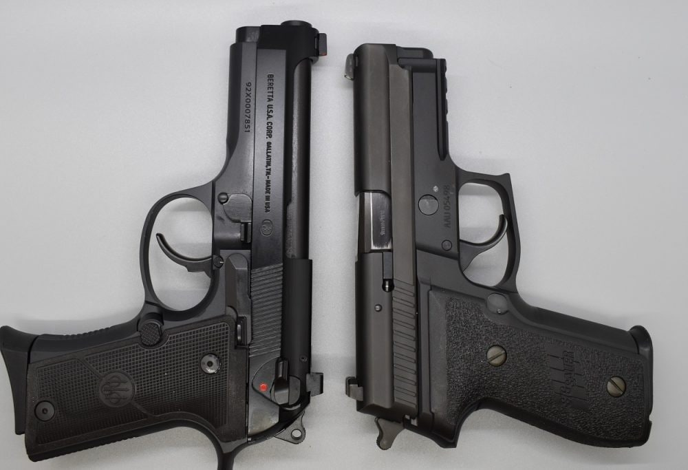 A closer comparison is the Sig Sauer P229R, which has the same magazine capacity in 9mm. The Italian stallion by way of Tennessee is an over a quarter-pound lighter, though.