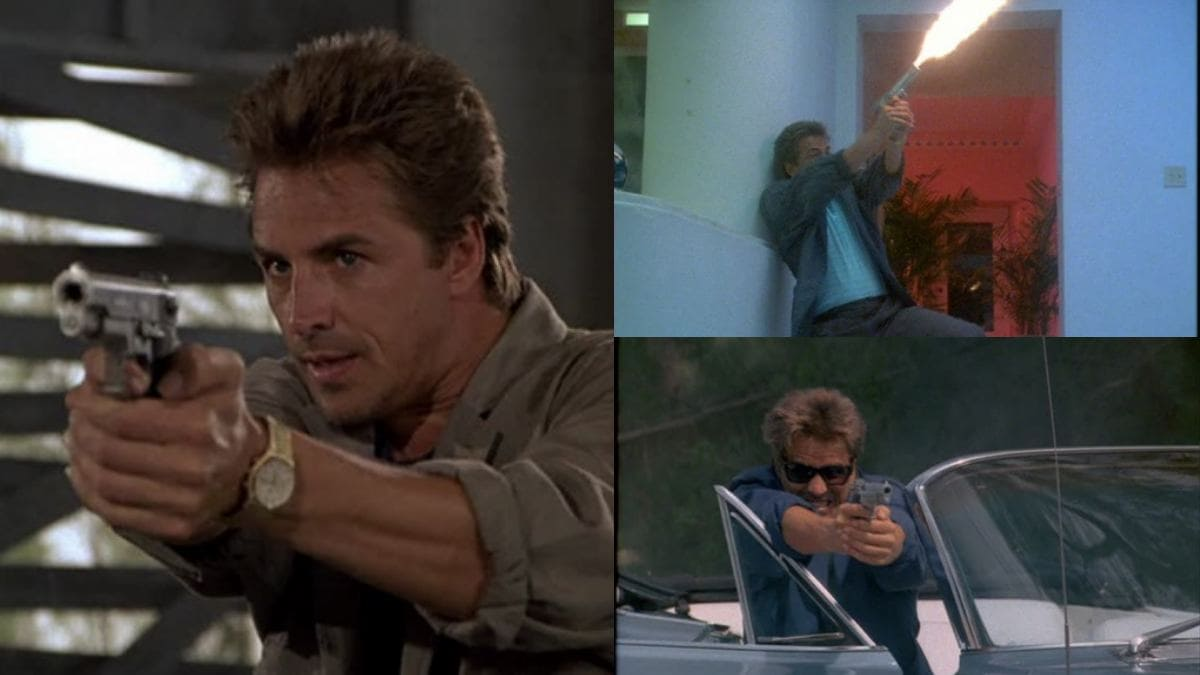 Season 3 of Miami Vice premiered in September 1986 while the fourth season concluded in May 1988, almost mirroring the 645's production run. Incidentally, the Jackass shoulder holsters Johnson wore in the show led to today's Galco International. (Photo: IMFDB)