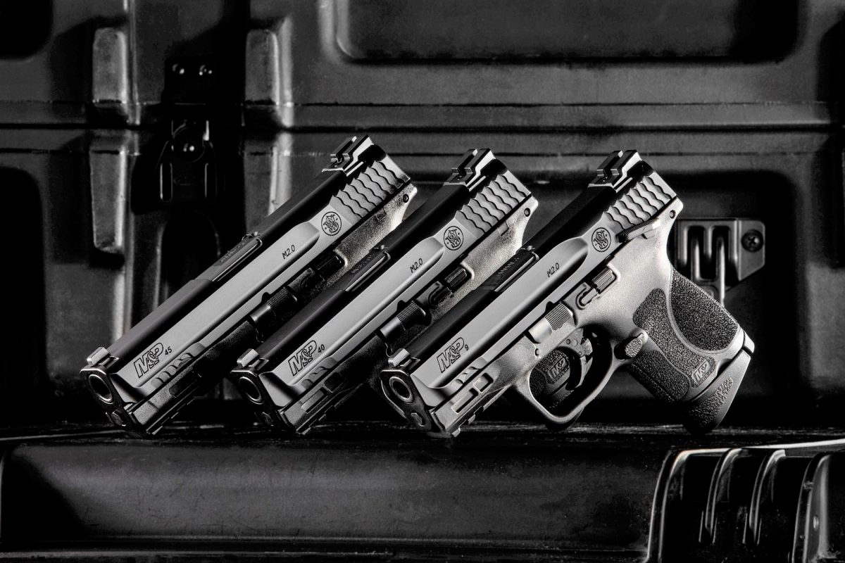 S&W's new M&P M2.0 Subcompact pistol series is offered in 9mm, .40S&W and .45ACP, both with and without a thumb safety. (Photo: S&W)