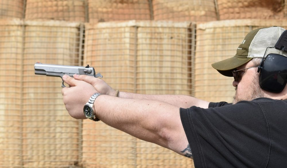 It fills the hands, even if you have big hands. (Photo: Chris Eger/Guns.com)