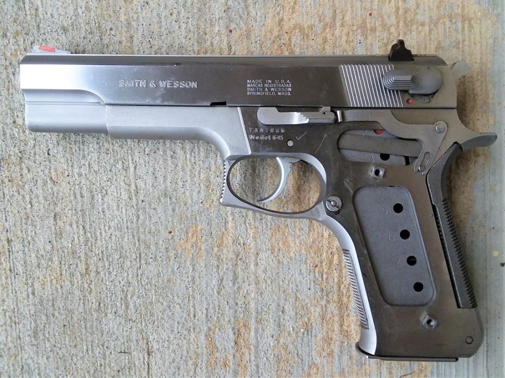 An all-metal gun other than the orange insert in the front sight and the grips, the 645 weighs in at 42-ounces. (Photo: Chris Eger/Guns.com)