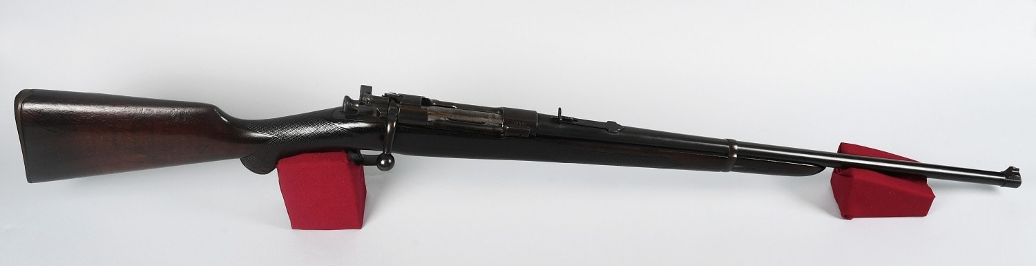 Note that the rifle, SN 0009, and has a rear adjustable sight rather than the military ladder sight that was standard GI-issue. (Photo: Sagamore Hill National Historic Site) https://www.nps.gov/sahi/index.htm