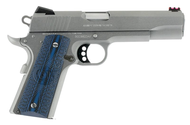 silver colt competition 1911 on white background