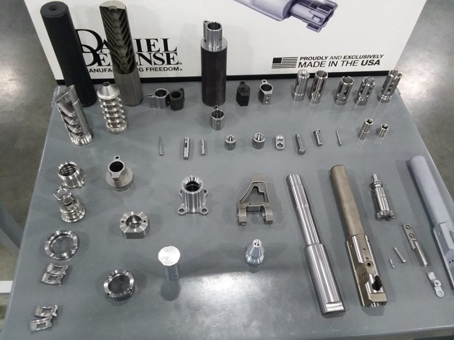 Besides making barrels and receivers, Daniel Defense makes over 50 components in-house, ranging from bolts to suppressor baffle cores.