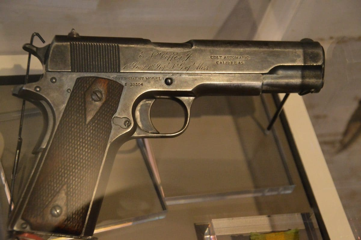 EN Coffey Jr 1st mississippi Colt M1911 Government Model SN 39304 made 1913 used in Mexico
