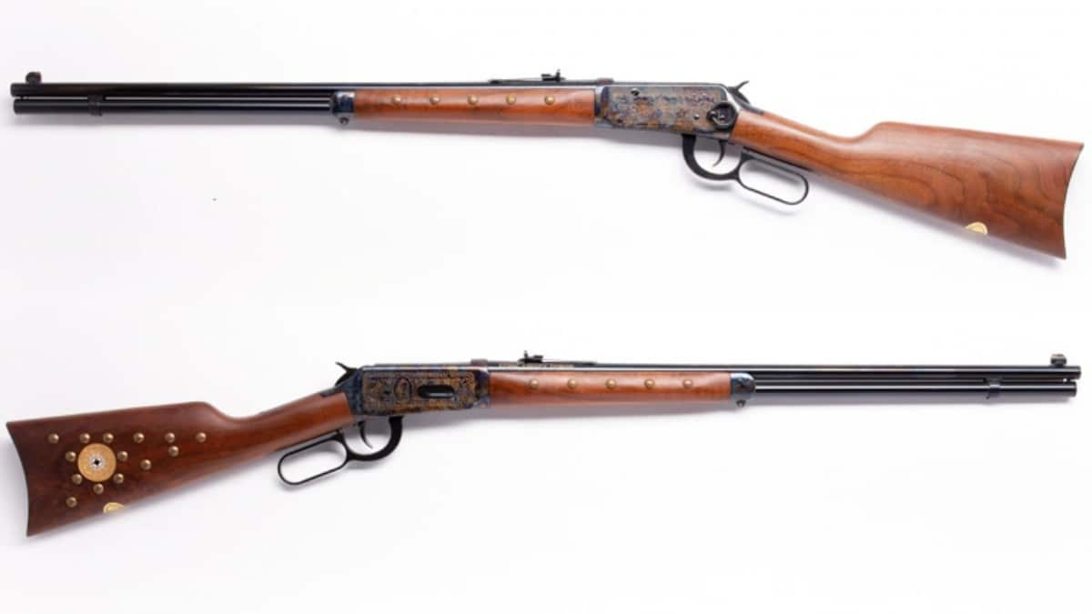 Model 1894 Chief Crazy Horse is a lever-action rifle chambered in 38-55 Win. A 24-inch barrel