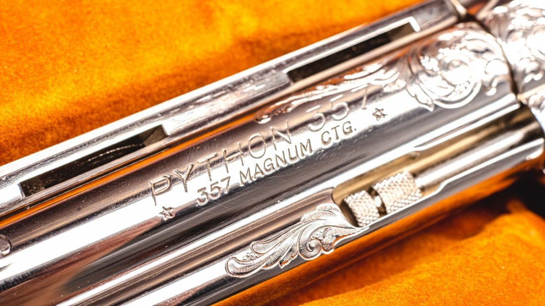 Engraved Colt Python