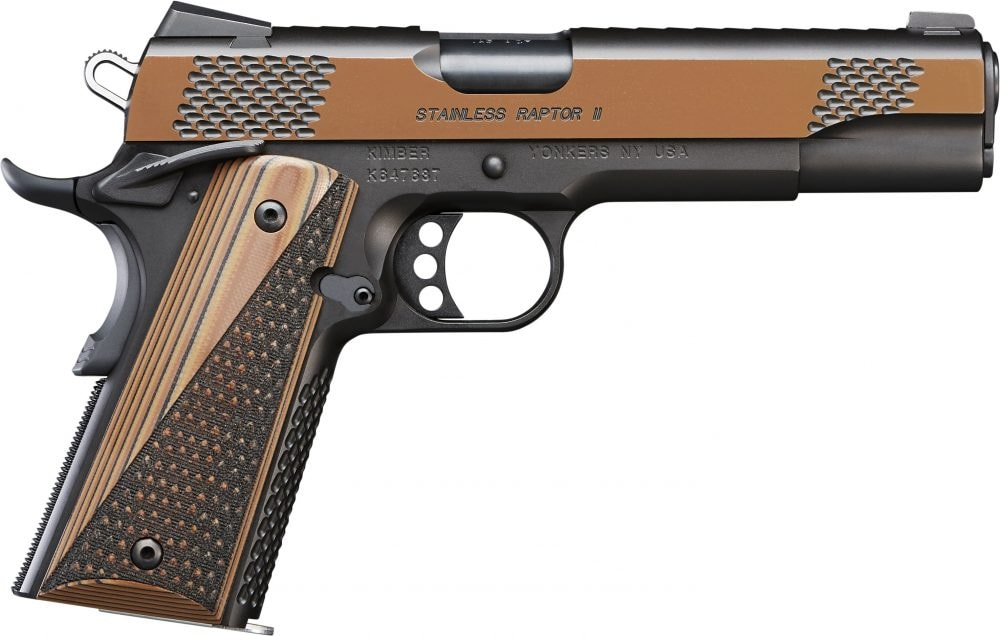 stainless Raptor II 1911 Collector Black and Tan