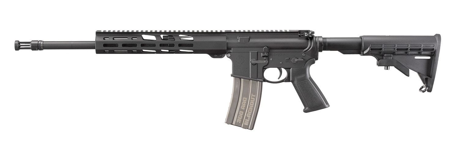 The overall length is 33-inches with the six-position M4 style stock fully collapsed and 36.25 with it fully extended. Weight is 6.4-pounds.