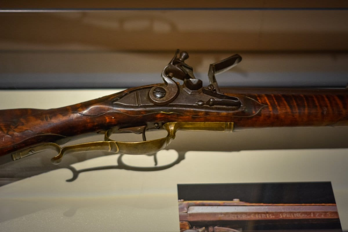 The 1775-dated Oerter rifle, recently returned to public display for the first time since it was stolen in 1971. (Photo: Museum of the American Revolution)