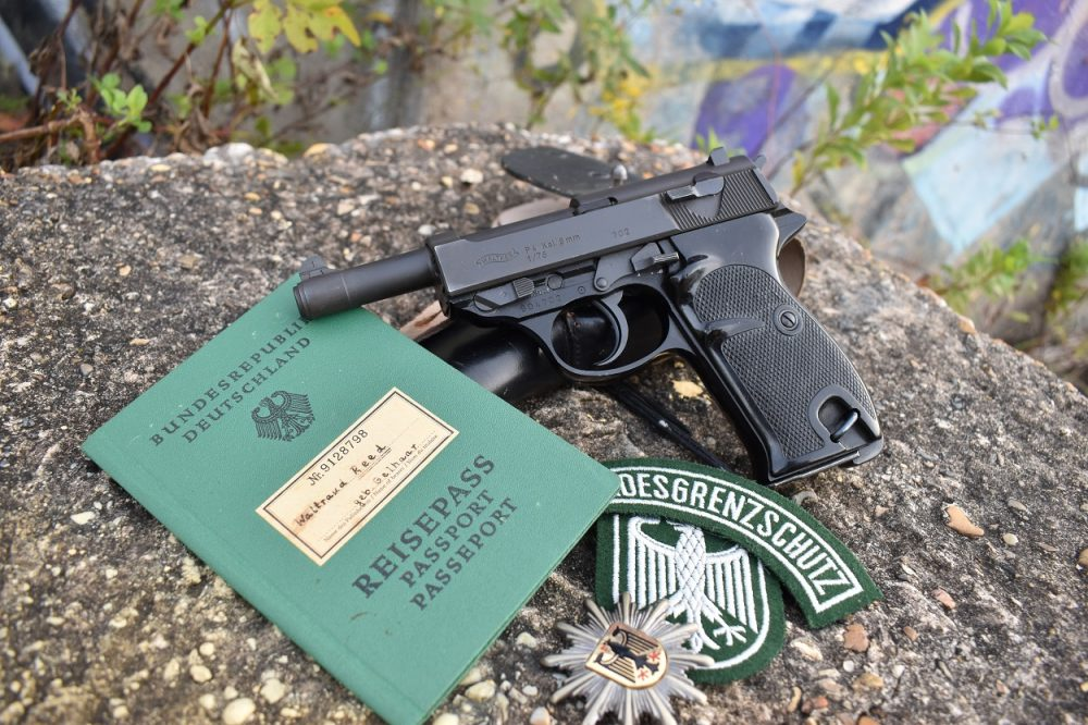 In 1975-76, Walther produced a limited run of 5200 P38 P4 pistols, a shortened version of the P1, specifically for use by the West German Border Patrol and Customs. The above, in the author's personal collection, is one of those BMI guns. (Photo: Chris Eger/Guns.com)