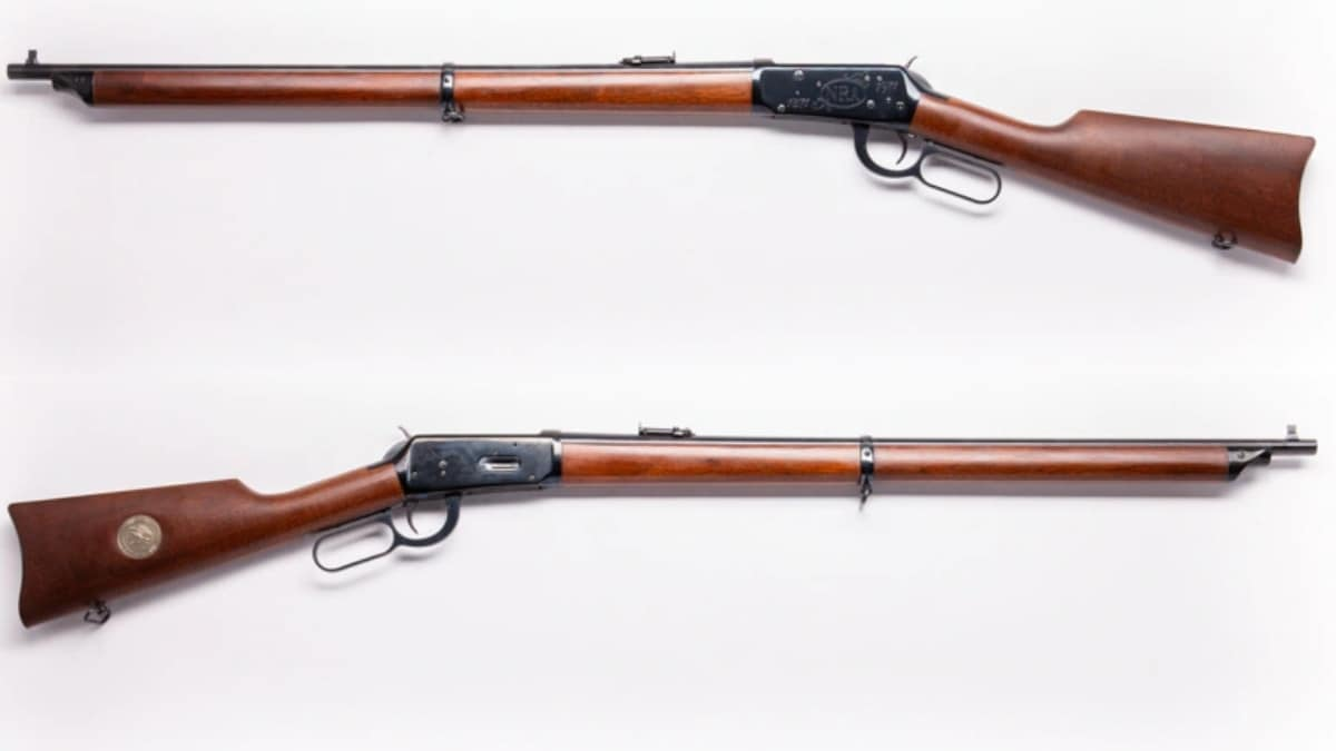 Winchester 94 NRA Centennial musket with a 26-inch barrel and full-length wood stock 1971