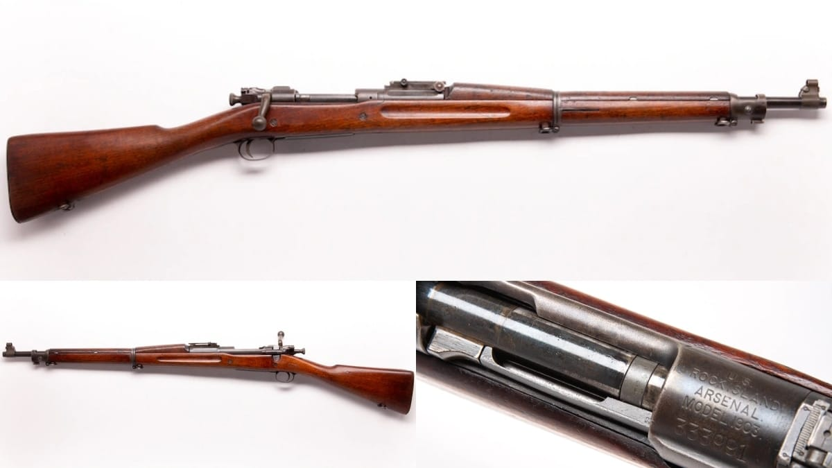 1918 RIA receiver but with a Springfield 1927 marked barrel M1903
