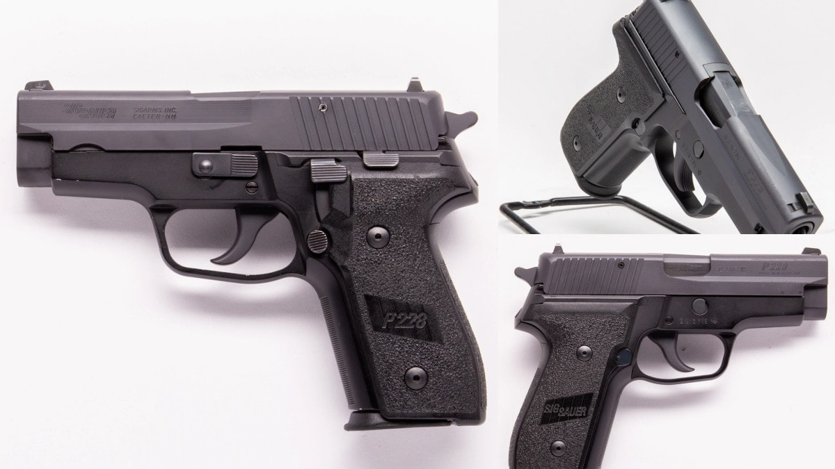 1990s West German P228 Sig Sauer as does this example