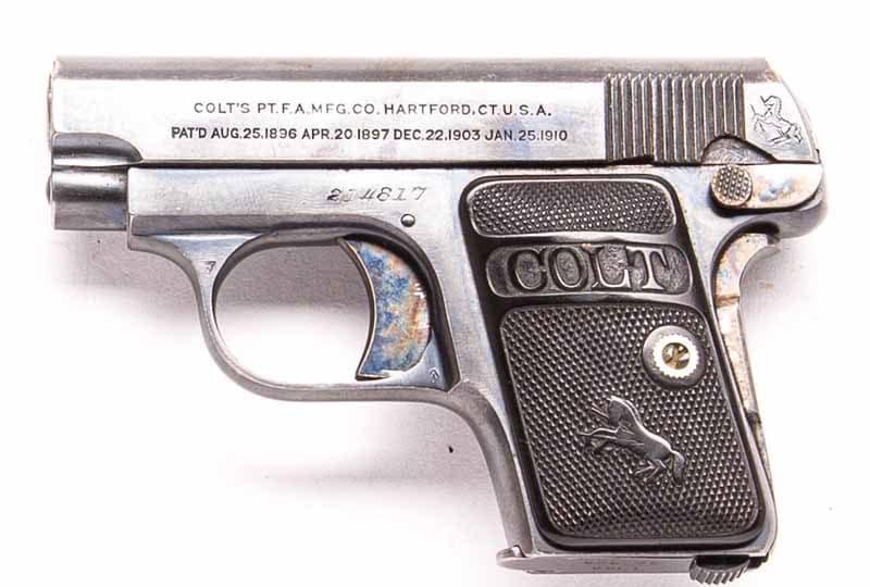 antique colt 1908 handgun