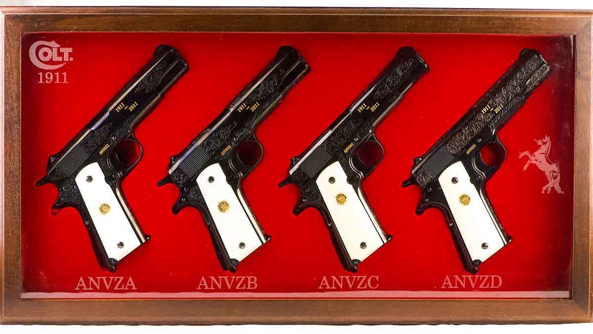 colt anniversary gun set
