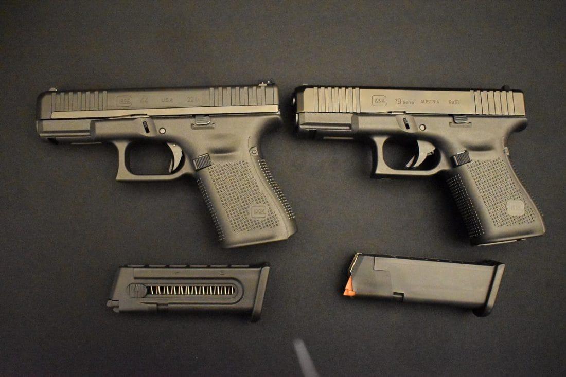 Glock 44 g19 compared