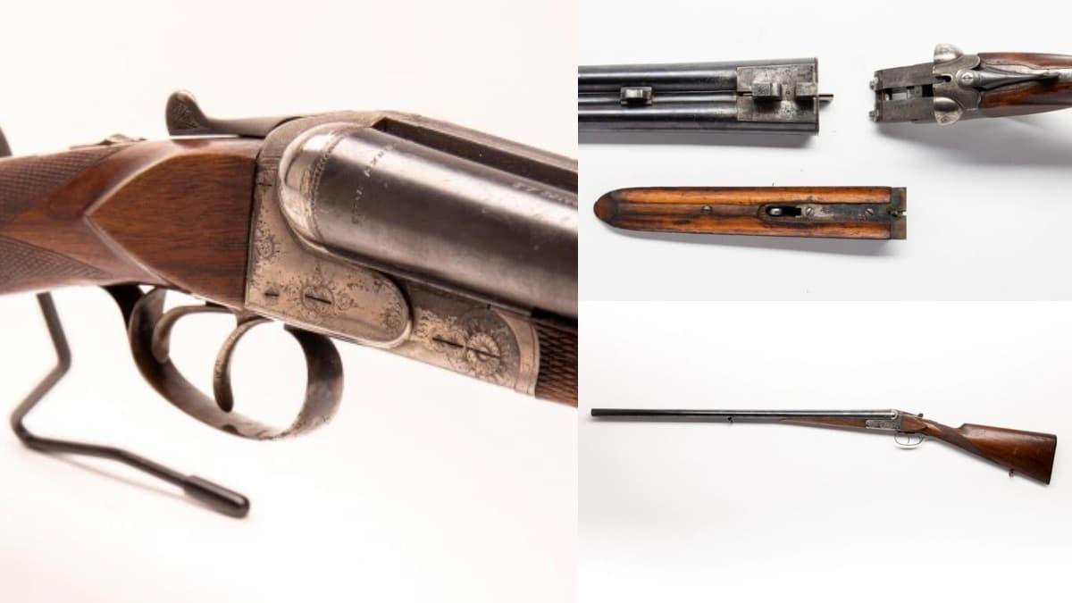 Husqvara 310A is a side-by-side break action 12-gauge shotgun