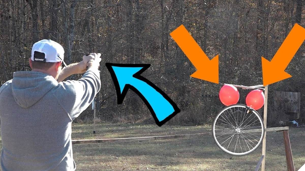 Incredible Spinning Trick Shot with 60 Year-Old Classic 22 Pistol