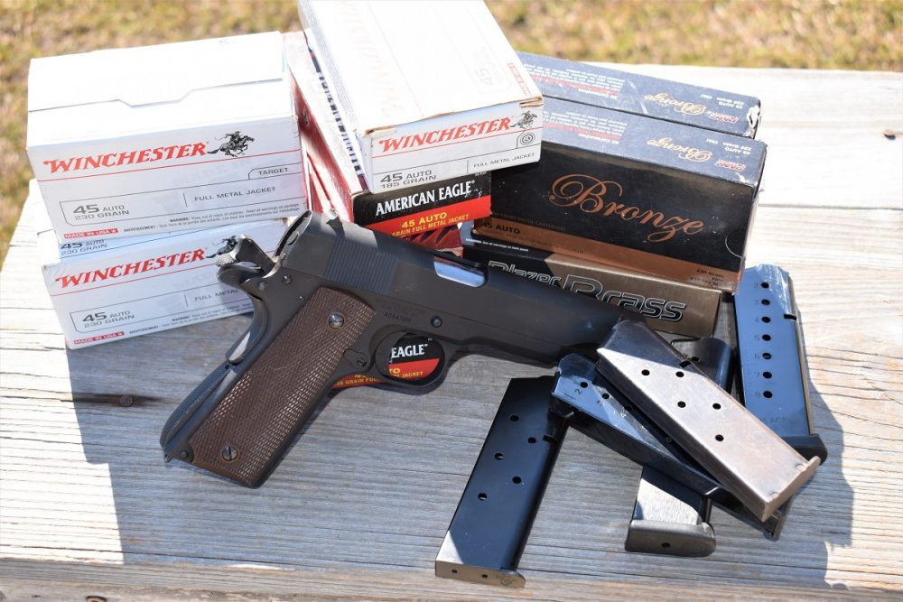 600 rounds of Winchester white box, PMC Bronze, Blazer Brass, and Federal American Eagle in 185 and 230-grain flavors