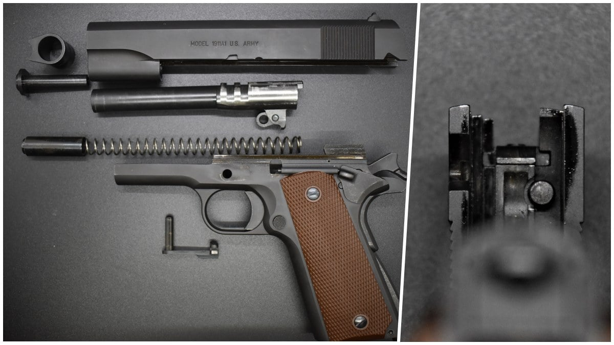 Internally, you have much as you would expect on a modern M1911. Of note, the gun is an 80-series and uses a firing pin block.