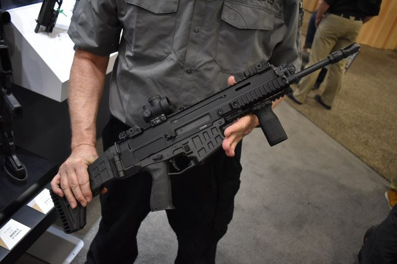 As the short-stroke gas piston system does not use a buffer tube unlike an AR-15 platform, the folding stock is a big bonus.
