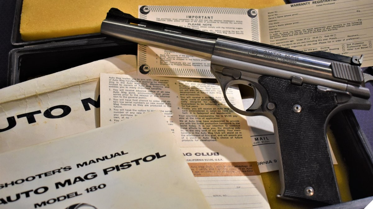 Dirty Harry & Mack Bolan's Big Thunder The Auto Mag Pistol in .44 AMP