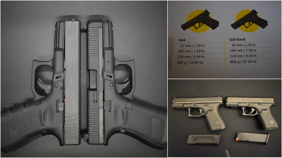 Glock G44 22LR Compared to Glock G19