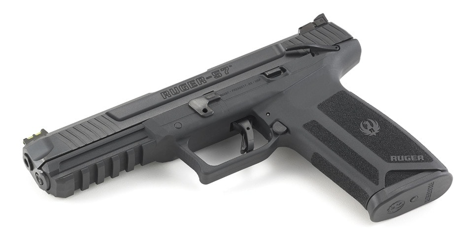 Billed at being roughly half the price of a FN Five-SeveN, the new Ruger 57 uses 20-round steel magazines that flush-fit in the grip. (Photo: Ruger)