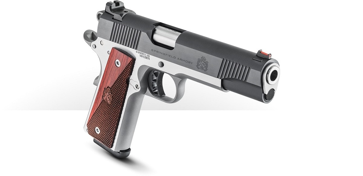 The Ronin Operator, in both .45ACP and 9mm, is a new two-tone M1911A1 from Springfield that includes a 5-inch match-grade stainless barrel with a fully supported ramp. (Photo: Springfield Armory)