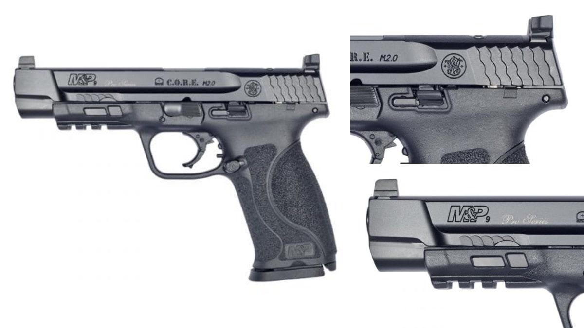 In the C.O.R.E. Pro models, which are optics-ready but also carry 3-dot white co-witness sights, the pistol includes mounting plates for the most popular reflex sights. Available in .40 or 9mm and in 4.25- and 5-inch variants, MSRP begins at $700.