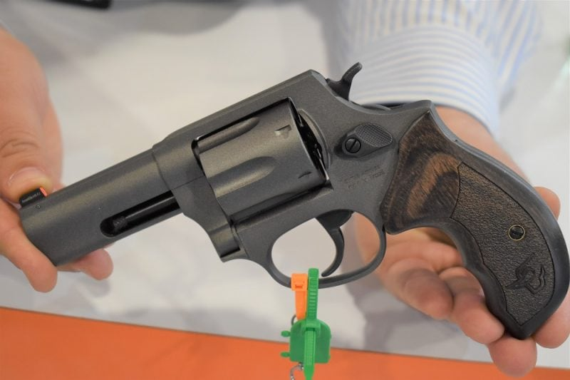 Shooters who appreciate solid hardwood grips can opt for the Tungsten Cerakote model Defender 856 (frame, barrel, and cylinder) with an Altamont walnut grip.