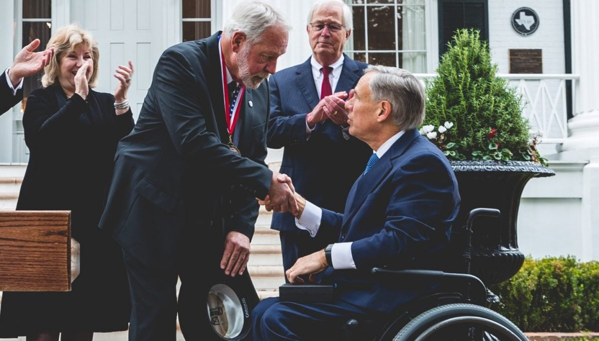 Texas Governor Presents 1st Ever State Medal of Courage to Jack Wilson