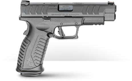 The XD-M Elite 4.5, as the name would imply, has a standard-length slide and 4.5-inch hammer-forged barrel. Both this model and the smaller Elite 3.8 have Tactical Rack U-Dot rear sights combined with fiber optic fronts. The overall length is 7.6-inches while weight is 29-ounces. MSRP is $559