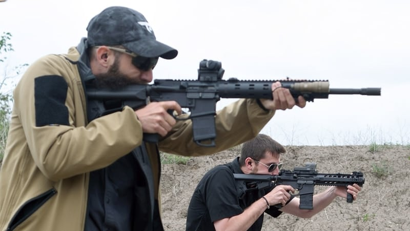 Canadians shooters AR-15s