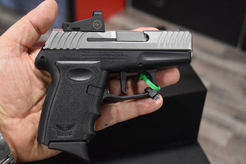 The new DVG-1, with a flat-faced straight trigger that breaks at 5.5-pounds, is also available in a CTS-1500-equipped version.