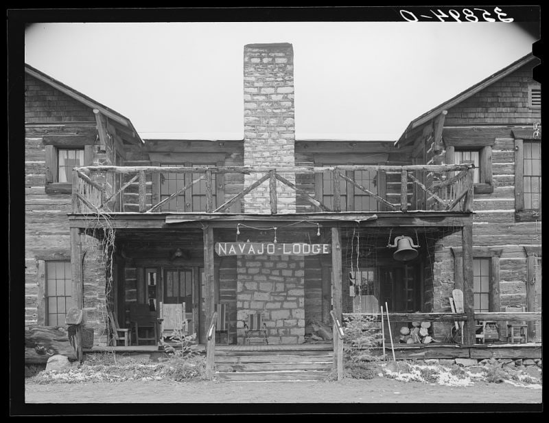 """Entrance to Navajo Lodge. Datil, New Mexico."""