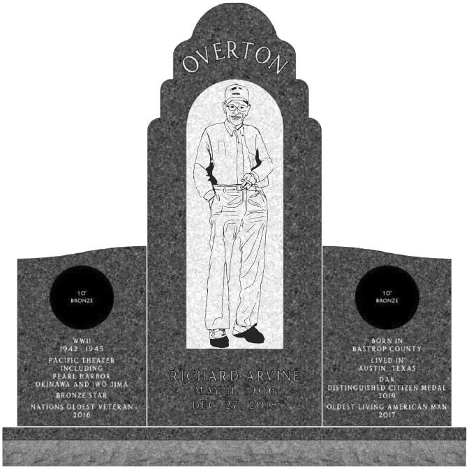 richard overton veteran grave memorial austin texas