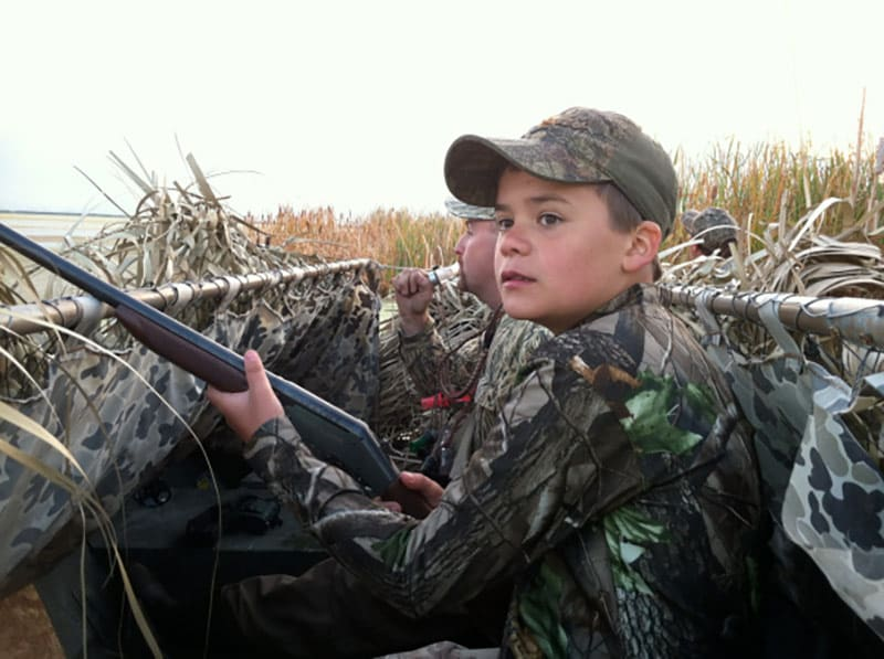 Child waterfowl hunting