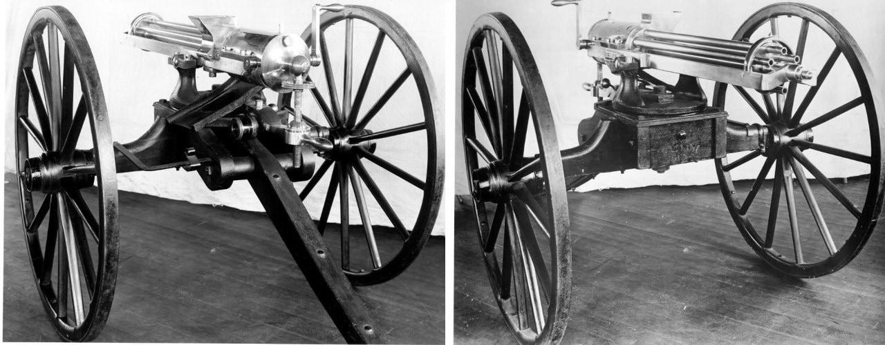 Model 1862 Type II hand-cranked rapid-fire gun SPAR 58 cal a-side