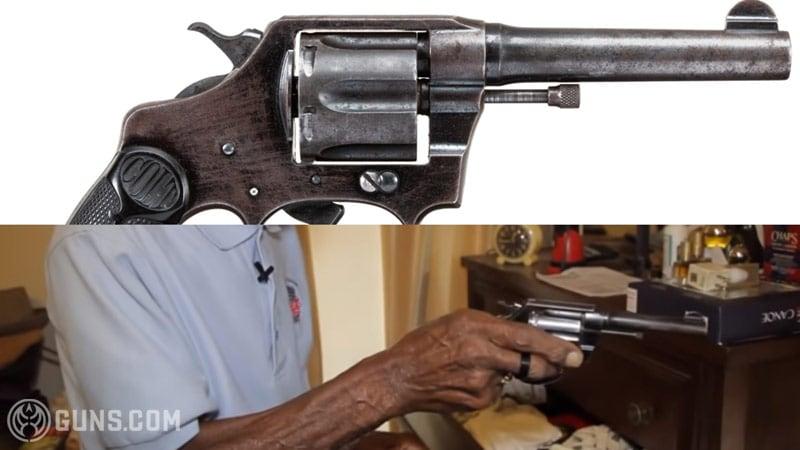 Richard Overton's Colt Police Positive revolver in .38.