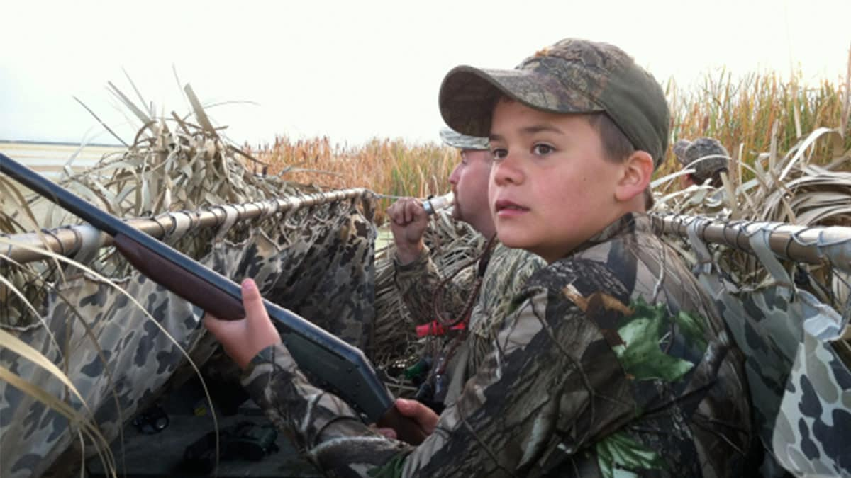 Child waterfowl hunting