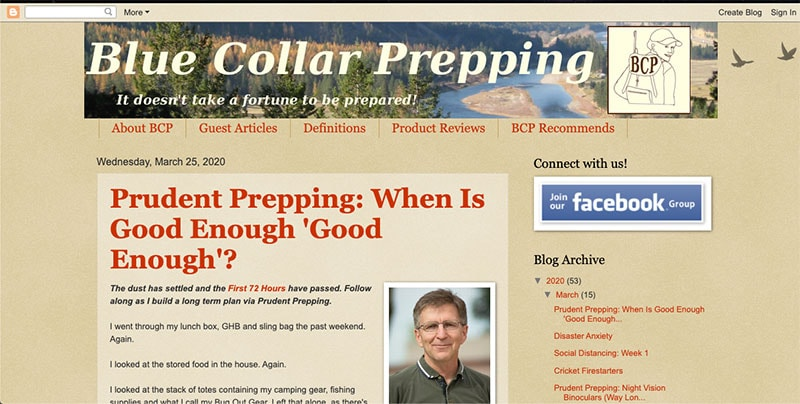 Blue Collar Prepping Website