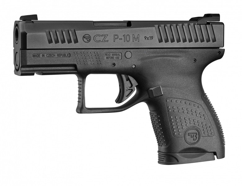 A catalog image of CZ P-10M pistol